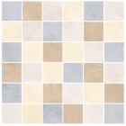 Johnson Tiles Natural Beauty Ivory / Honey / Sand / Steel Mix Mosaic Tile