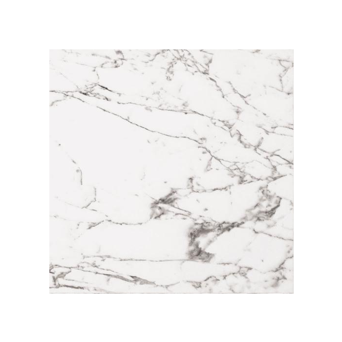 Arabescato Veined White Marble Effect Polished Tiles - 600x600mm