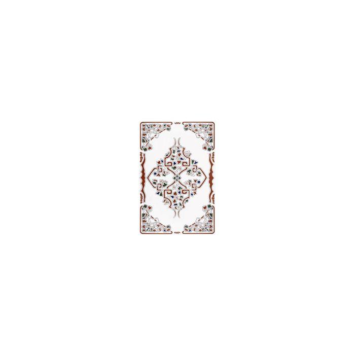 Zocalo Toledo Marron Decorated Field Tile - 300x200mm