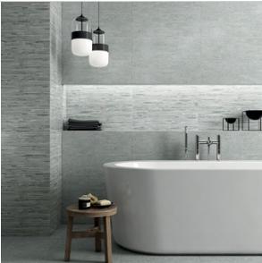 gemini franklin grey linear décor matt tile 600x200mm
