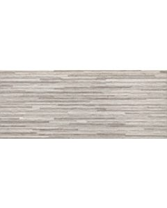 Continental Tiles Provence Grey Relieve Silica Wall Tiles - 300x600mm
