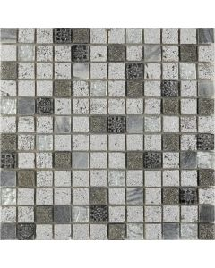 Continental Tiles Mosaic and Borders Imperium Silver Tile