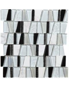 Mosaic & Borders Malla Crazy Carrara Tile