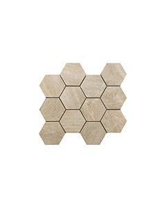 Continental Tiles Sintesi Mystone Sand Mosaico Hexagonal Wall and Floor Tiles 3034
