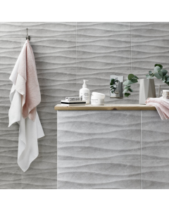 British Ceramic Tile HD Accolade Grey Wave 298x498