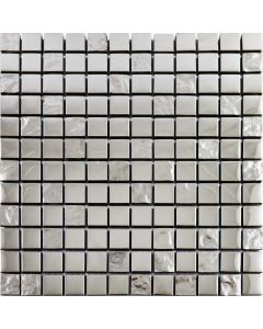 Slate Silver Mosaic Tiles Argent Night Brick Mix Tiles 295x289mm