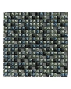 Gemini Mosaics Blue Mix Glass & Stone Tile - 300x300mm