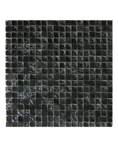 Gemini Mosaics Antracite Mix Glass & Stone Tile - 300x300mm