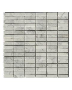 Gemini Mosaics Carrara Marble Tile 48x15mm - 300x300mm