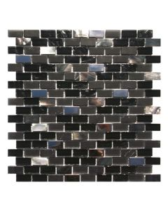 Gemini Mosaics Sea Shell Black Tile - 300x300mm