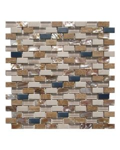 Gemini Mosaics Sea Shell Beige Tile - 300x300mm