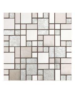 Gemini Mosaics Silver Modello Multi-Format Tile - 300x300mm