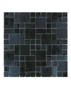 Gemini Mosaics Black Modello Multi-Format Tile - 300x300mm
