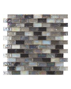 Gemini Mosaics Hammered Silver Tile - 300x300mm