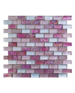 Gemini Mosaics Hammered Pink Tile - 300x300mm