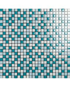 Smart Mosaic Tiles Malla Blue Mix 1x1 Tiles 300x300mm
