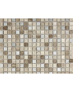 Marshalls Tile and Stone Ashdown Grey Silver Etched Mosaic Tile