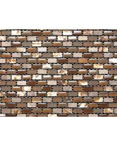 Marshalls Tile and Stone Mosaics Dahli Beige Brick Mosaic