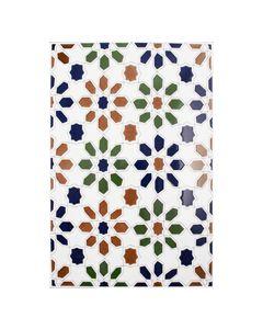 Zocalo Cordoba Decorated Field Tile - 300x200mm