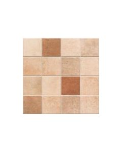 Meknes Terracotta Decor Matt Tile - 442x442mm