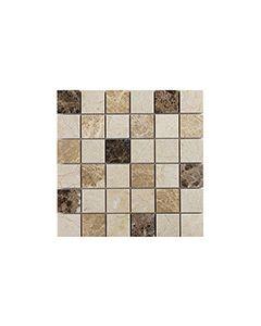 Marshalls Tile and Stone Mosaics Dark Mixed Marble Mosaic 5x5