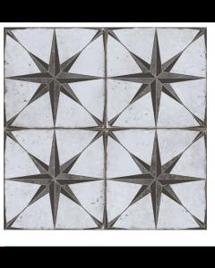 Halcon Tiles Glasgow Grey Gris Porcelain Wall and Floor Feature Star Tiles 45x45