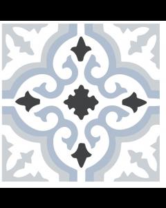 Halcon Tiles Lancaster Blue Porcelain Wall and Floor Feature Star Tiles 45x45