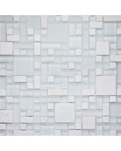 Metallic Random Tiles Orion Modular Mix Mosaic Tiles 297x297mm