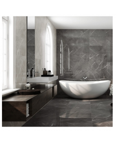 Pamesa Leviglass Piave Coal Porcelain wall and Floor Tiles 370x750mm