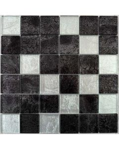 Hong Kong Tiles Silver Mix Square Mosaic Tiles 297x297mm
