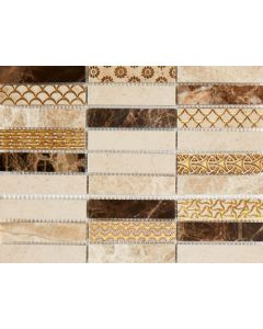 Marshalls Tile and Stone Moleanos Beige Isabella Mosaic - 300x300mm