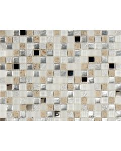 Marshalls Tile and Stone Moleanos Isabella Blue and Silver Mosaic - 300x300mm