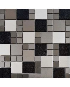 Metallic Random Tiles Mix Mosaic Tiles 297x297mm