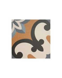 Moresque Encaustic Effect Valeria 33 Tile - 333x333mm