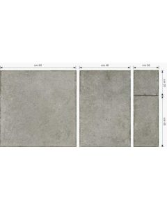 Continental Tiles Montresor 4 Size Cenere Grey Floor Tiles