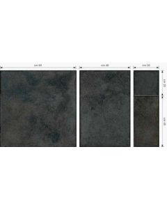 Continental Tiles Montresor 4 Size Ferro Black Floor Tiles
