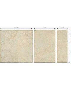 Continental Tiles Montresor 4 Size Miele Beige Floor Tiles