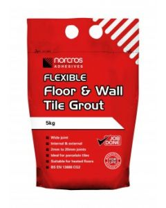 Norcros Adhesives Flexible Floor & Wall Tile Grout Limestone 5kg x3