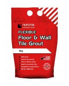 Norcros Adhesives Flexible Floor & Wall Tile Grout Limestone 5kg x3