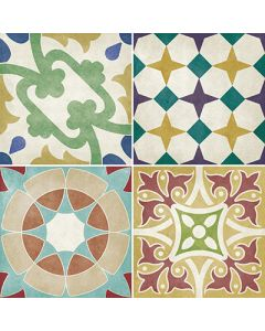 British Ceramic Tiles Parian Multicoloured Decor Tiles - 142x142mm
