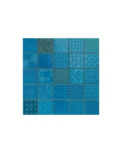 Patchwork Mosaic Effect Tiles Cardiff Azul Tile - 333x333mm