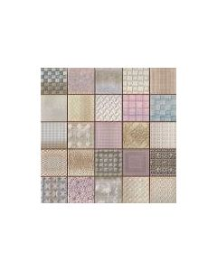 Patchwork Mosaic Effect Tiles Cardiff Fabric Tile - 333x333mm