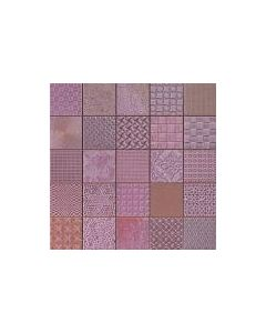 Patchwork Mosaic Effect Tiles Cardiff Lila Tile - 333x333mm