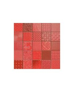 Patchwork Mosaic Effect Tiles Cardiff Rojo Tile - 333x333mm