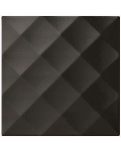 Studio Conran Ridge Black Gloss Tile - 198x198mm