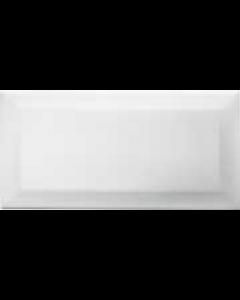 Retro Metro White 200x100mm Gloss Wall Tile
