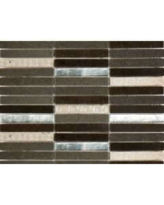 Marshalls Tile and Stone Risa Noir Mixed Glass Mosaic - 300x300mm