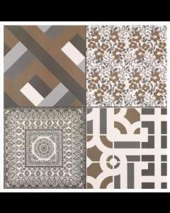 Azulejo Monotone Pattern Tile - 442x442mm