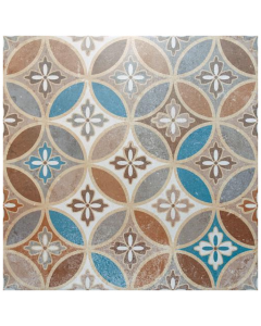 Moresque Encaustic Effect Naklo Belli Tile - 450x450mm