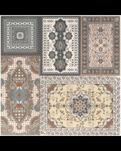 Ardabil Herati Decor Matt Tile - 442x442mm